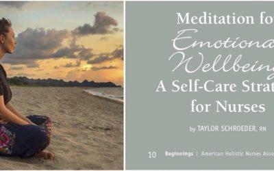 Meditazione per il benessere emozionale. Una strategia di self-care per infermieri